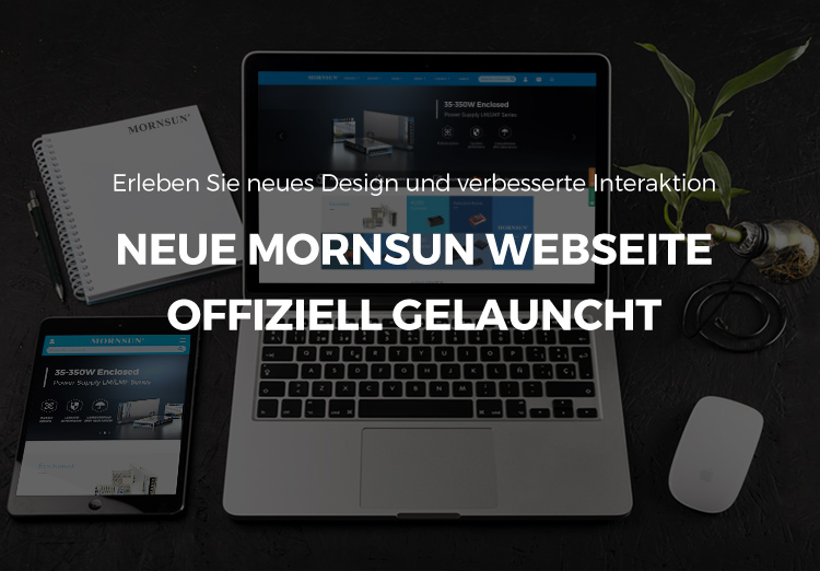 Neue MORNSUN webseite