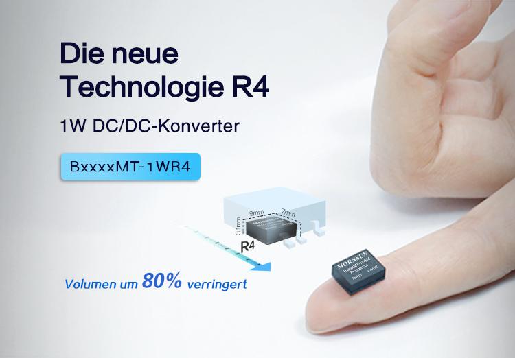 Ultraflacher isolierter DCDC Konverter im Gehäuse DFN