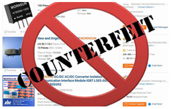 MORNSUN warns against counterfeit!