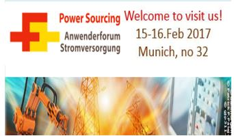 To Meet MORNSUN in Anwenderforum Stromversorgung on 15-16.Feb of 2017