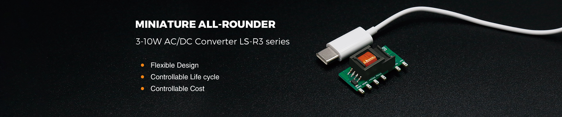 Miniature All-rounder, 3-10W AC/DC Converter LS-R3 series